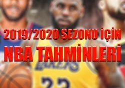 2019/2020 sezonu için NBA tahminleri